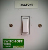 Reminders to switch off are now omnipresent at Douglas House.