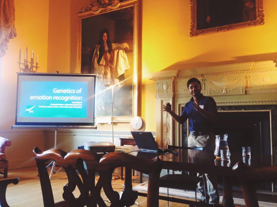 PhD- Student Varun Warrier  giving his presentation. Photo credit: Elijah Mak