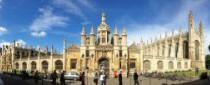 Photo of Kings College on a sunny day, against a clear blue sky